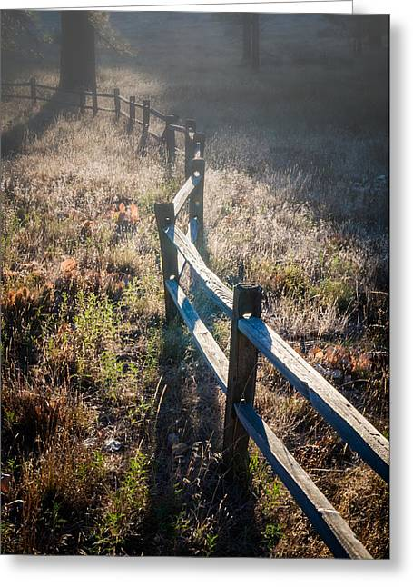 Wooden Fence Greeting Cards - Mt Laguna Fenceline Greeting Card by Joseph Smith