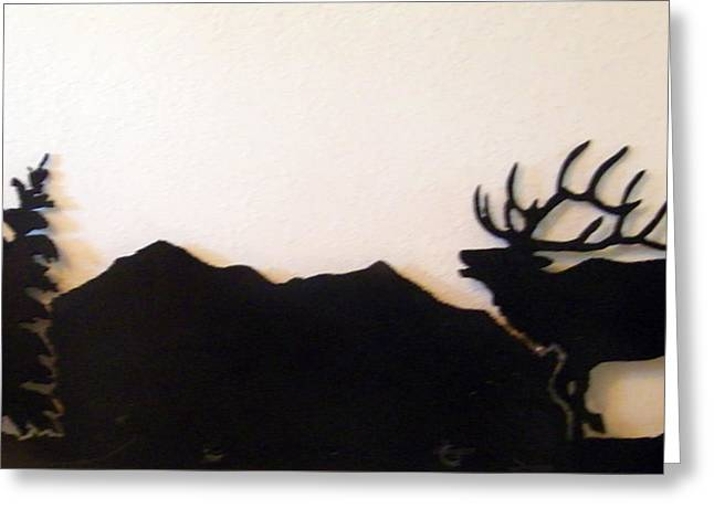 Colorado Sculptures Greeting Cards - Mt. Lamborn Elk Greeting Card by Dale Jackson
