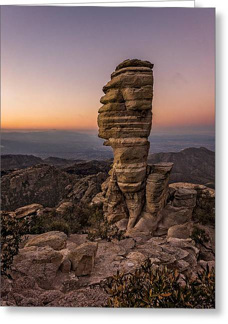 Catalina Mountains Greeting Cards - Mt. Lemmon Hoodoo Greeting Card by Chris Bordeleau