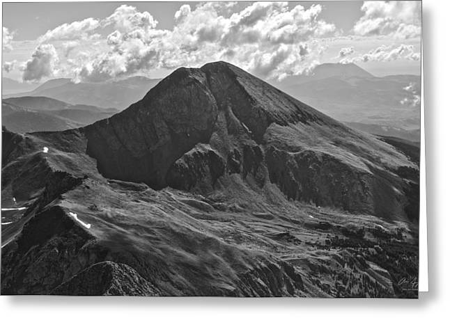 Crisp Greeting Cards - Mt. Lindsey Greeting Card by Aaron Spong