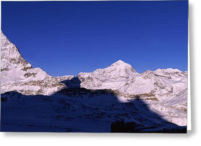Valais Canton Greeting Cards - Mt Matterhorn From Riffelberg, Zermatt Greeting Card by Panoramic Images