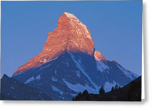 Singular Greeting Cards - Mt Matterhorn Zermatt Switzerland Greeting Card by Panoramic Images