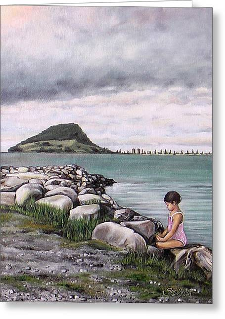 Mount Maunganui Greeting Cards - Mt Maunganui 140408 Greeting Card by Sylvia Kula
