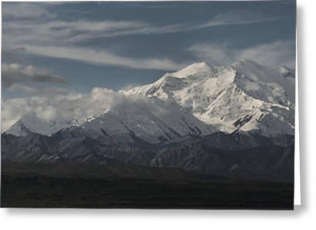 U.s. Destination Greeting Cards - Mt. Mckinley And The Alaska Range Greeting Card by Ron & Nancy Sanford