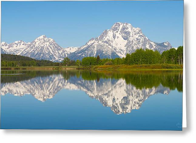 Taking Photographs Greeting Cards - Mt. Moran  Greeting Card by Aaron Spong