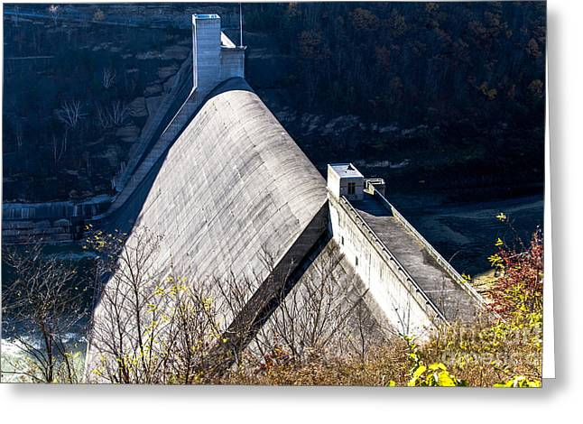 Williams Dam Photographs Greeting Cards - Mt Morris Dam Greeting Card by William Norton