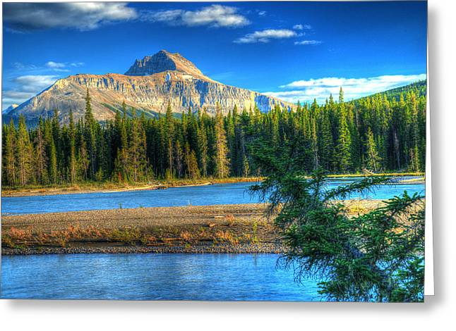 Rill Greeting Cards - Mt Murchison and Bow River Greeting Card by Douglas Barnett