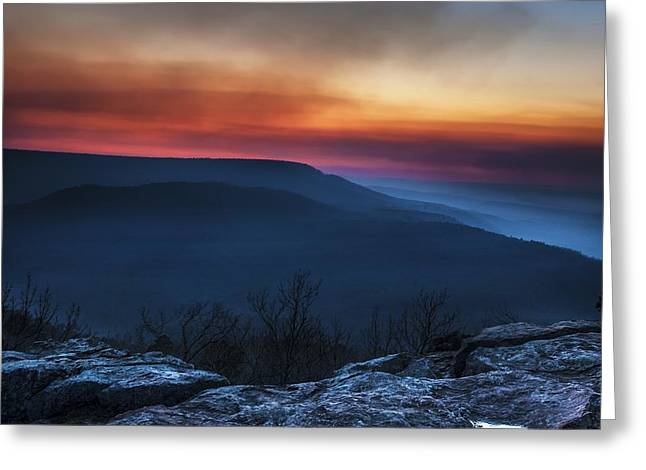 Mt Nebo Arkansas St Sunset Greeting Card by Tim Hayes