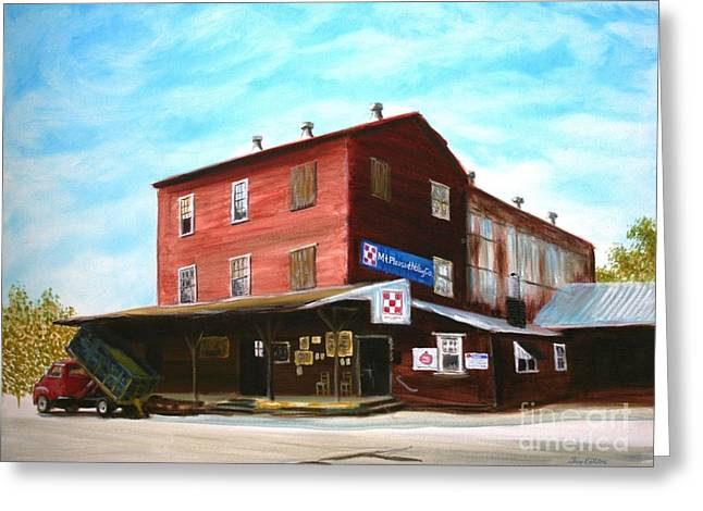 Charlotte Paintings Greeting Cards - Mt. Pleasant Milling Company Greeting Card by Stacy C Bottoms