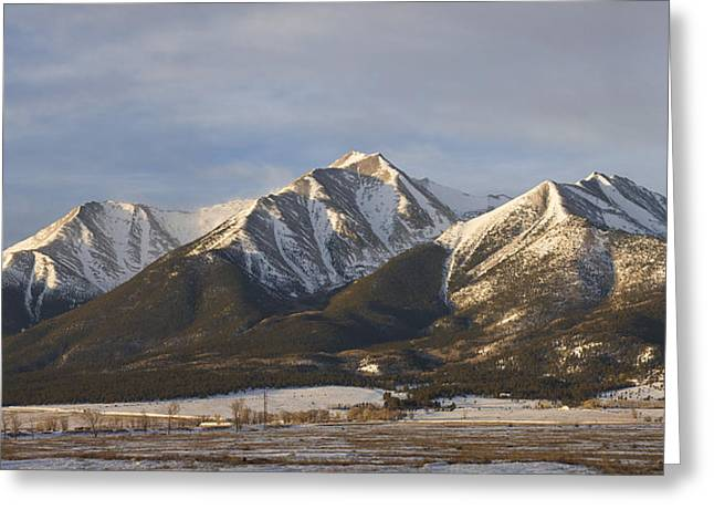 Leadville Greeting Cards - Mt. Princeton Sunrise Greeting Card by Aaron Spong