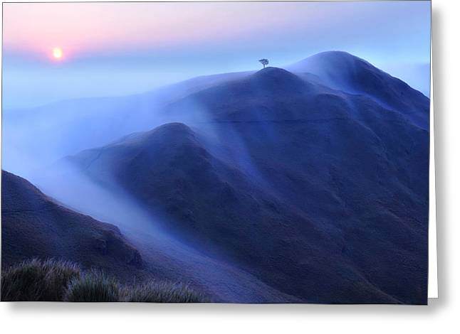 Incline Greeting Cards - Mt. Pulag Greeting Card by Edwin Verin