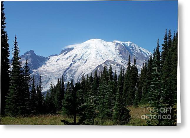 Neurotic Images Photography Greeting Cards - Mt. Rainier in August Greeting Card by Chalet Roome-Rigdon