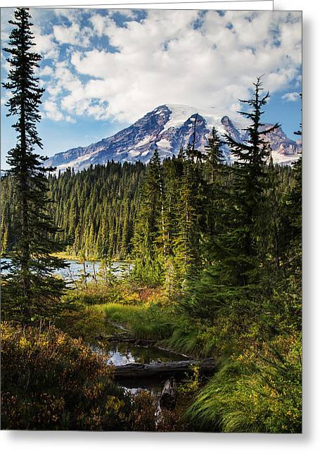 High Country Greeting Cards - Mt Rainier National Park Greeting Card by Angie Vogel