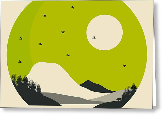 National Digital Greeting Cards - Mt Rainier National Park Bench Lake Greeting Card by Jazzberry Blue