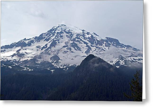 Mt. Massive Greeting Cards - Mt. Rainier  Greeting Card by Roger Reeves  and Terrie Heslop
