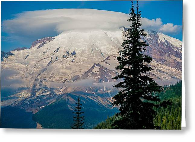 Ventricles Greeting Cards - Mt. Rainier - Ventricle Cloud Greeting Card by Spencer McDonald