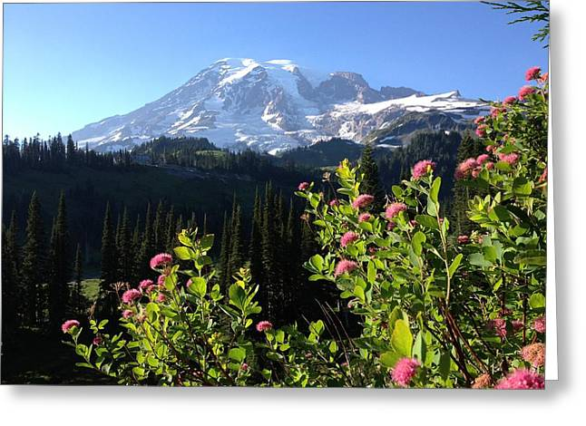 Jerry Browning Greeting Cards - Mt. Rainiers Magesty Greeting Card by Jerry Browning