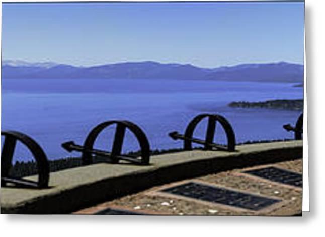 Mount Rose Highway Greeting Cards - Mt Rose Highway Scenic Overlook Panorama Greeting Card by LeeAnn McLaneGoetz McLaneGoetzStudioLLCcom