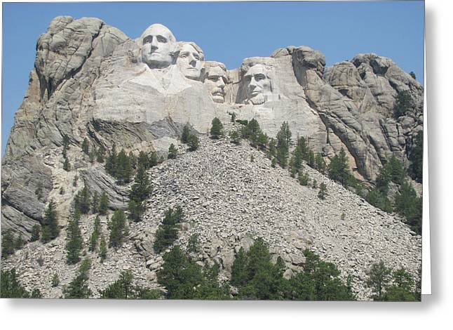 Jefferson Pyrography Greeting Cards - Mt. Rushmore at a Distance Greeting Card by Karen Gross