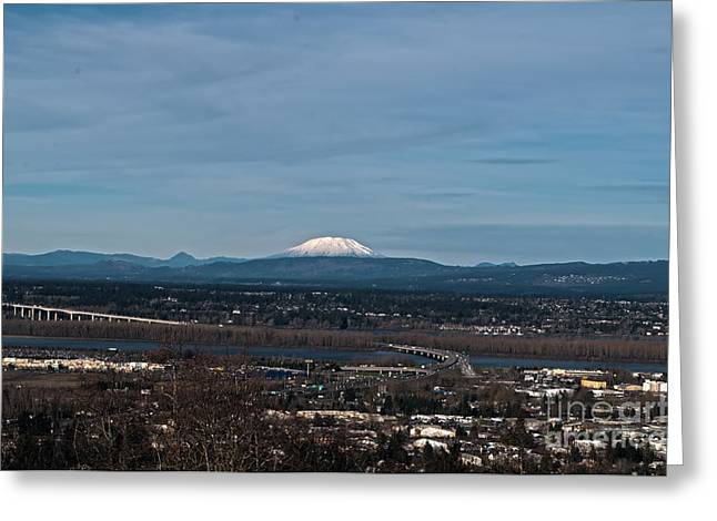 River View Greeting Cards - Mt. Saint Hellens Greeting Card by Mandy Judson
