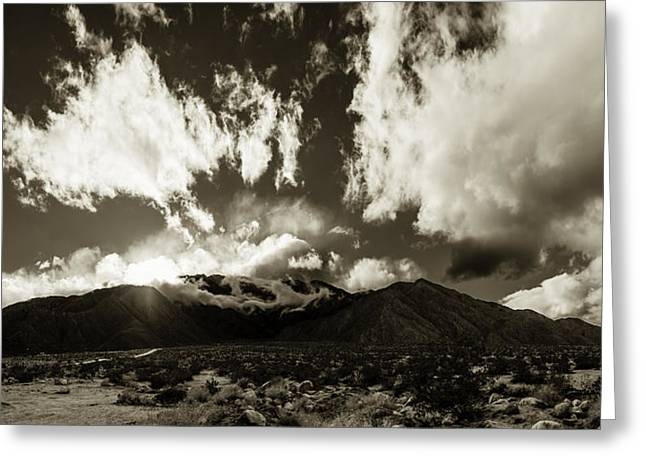 Sun Breakthrough Greeting Cards - Mt San Jacinto   Greeting Card by Art K