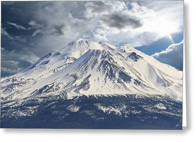 Mt. Shasta Greeting Cards - Mt Shasta Greeting Card by Athala Carole Bruckner
