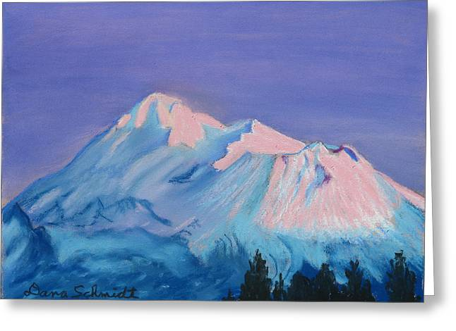 Mt Pastels Greeting Cards - Mt. Shasta California Greeting Card by Dana Schmidt