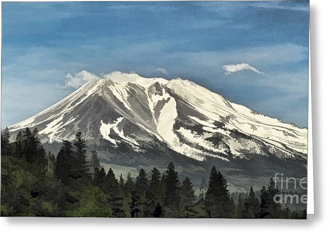 Siskiyou County Greeting Cards - Mt. Shasta Greeting Card by Kathleen Gauthier