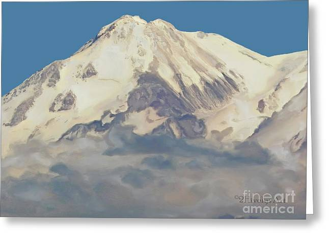 Mt. Shasta Greeting Cards - Mt. Shasta Summit Greeting Card by Methune Hively