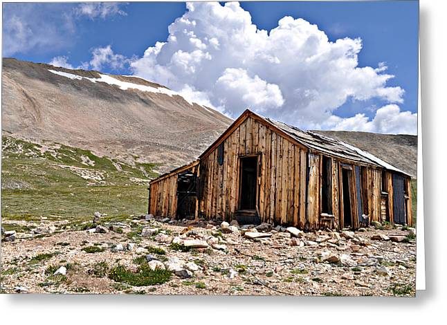 Shack Photographs Greeting Cards - Mt. Sherman Greeting Card by Aaron Spong