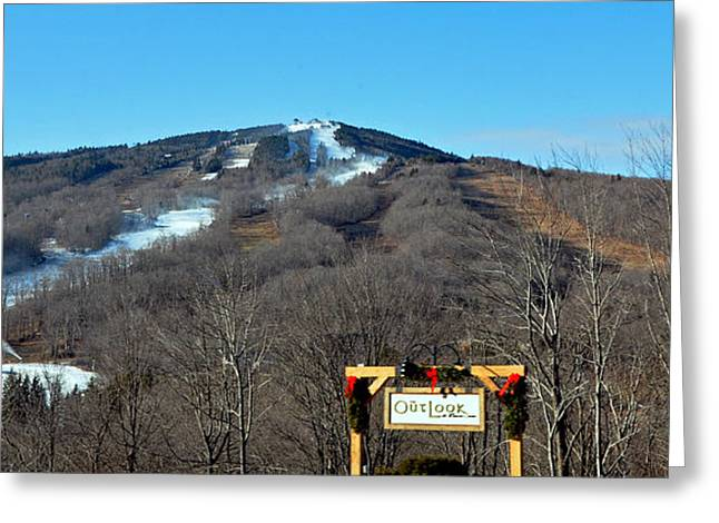 Mt Snow Vermont Greeting Card by Mary Anne Williams