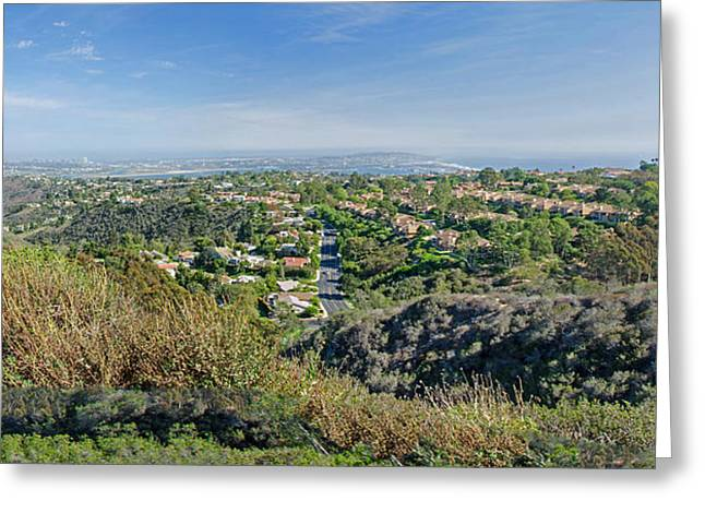 The Hills Greeting Cards - Mt. Soledad - View To The South Greeting Card by Susan  McMenamin