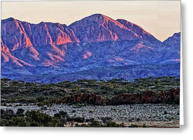 Mt Pyrography Greeting Cards - Mt Sonder Sunrise Greeting Card by Paul Svensen