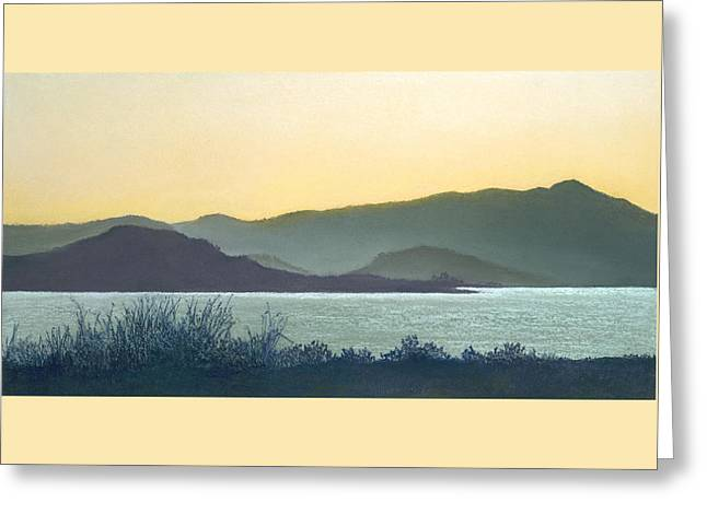 San Francisco Bay Pastels Greeting Cards - Mt. Tamalpais California Greeting Card by Martha J Davies