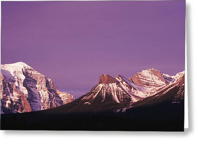 Haze Greeting Cards - Mt Temple Banff Provincial Park Canada Greeting Card by Panoramic Images