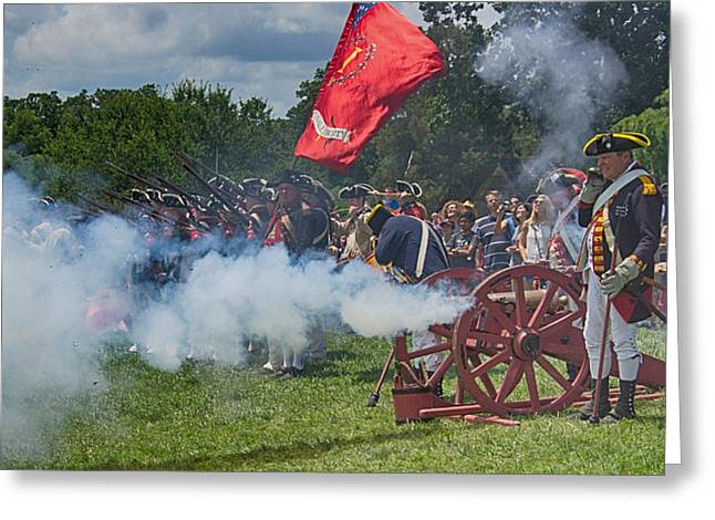 Mt Vernon Cannon Fire 4th of July Greeting Card by Jack Nevitt