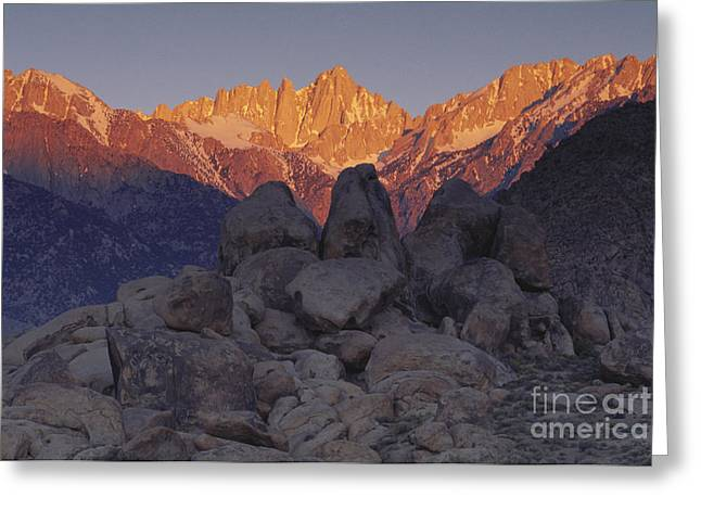 Mount Whitney Greeting Cards - Mt. Whitney In Sunlight Greeting Card by Art Wolfe