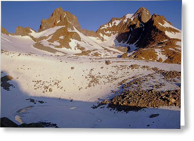 Winchell Greeting Cards - Mt. Winchell Mt. Agassiz Greeting Card by Ed  Cooper Photography