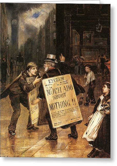 Arguing Greeting Cards - Much Ado About Nothing Greeting Card by Augustus Edwin Mulready