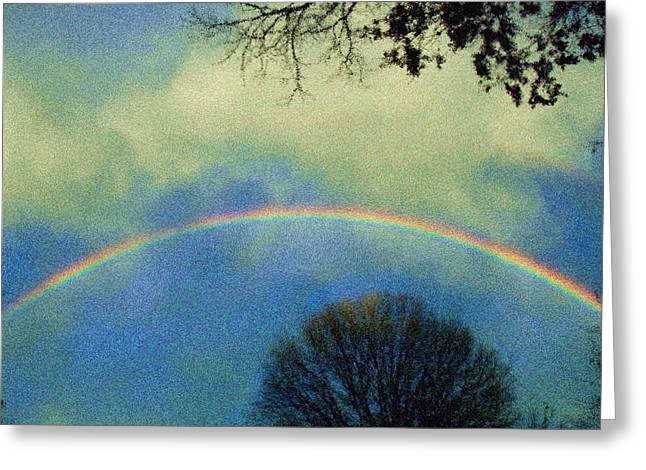 Double Rainbow Digital Art Greeting Cards - Much needed hope Greeting Card by Denise Beverly