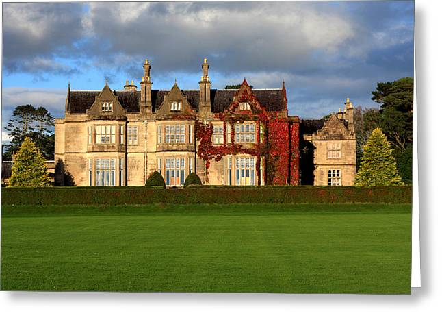 Historical Buildings Greeting Cards - Muckross House - Killarney Greeting Card by Aidan Moran
