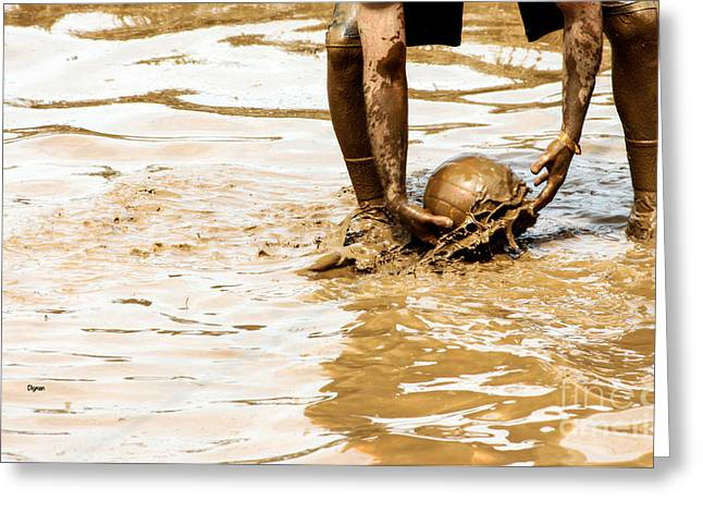 Mud Ball Greeting Card by Steven  Digman