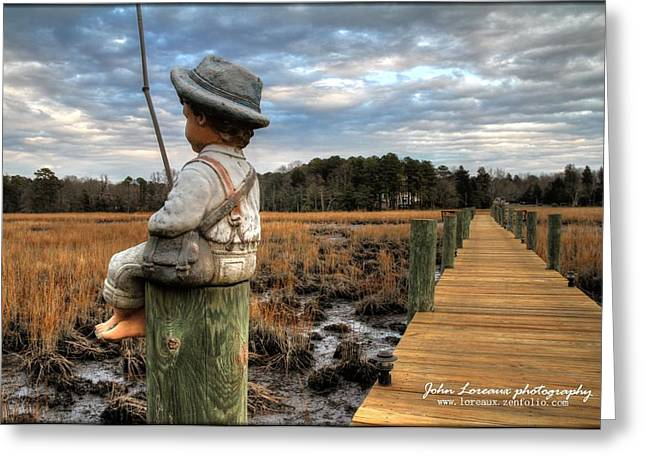 Fishing Creek Greeting Cards - Mud Fishin Greeting Card by John Loreaux