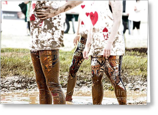 Mud Poker Greeting Card by Steven  Digman