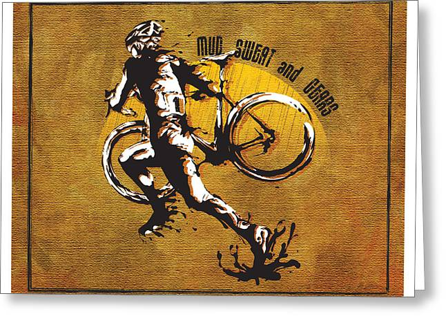 Splatter Greeting Cards - Mud Sweat And Gears Greeting Card by Sassan Filsoof