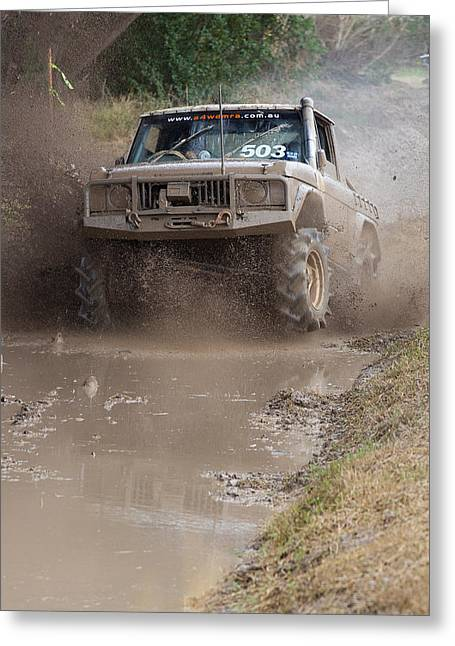 Tim Nichols Greeting Cards - Mudbash - 44 Greeting Card by Tim Nichols