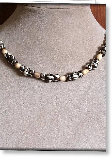Gold Earrings Jewelry Greeting Cards - MudBone Tribal Greeting Card by Jan Brieger-Scranton