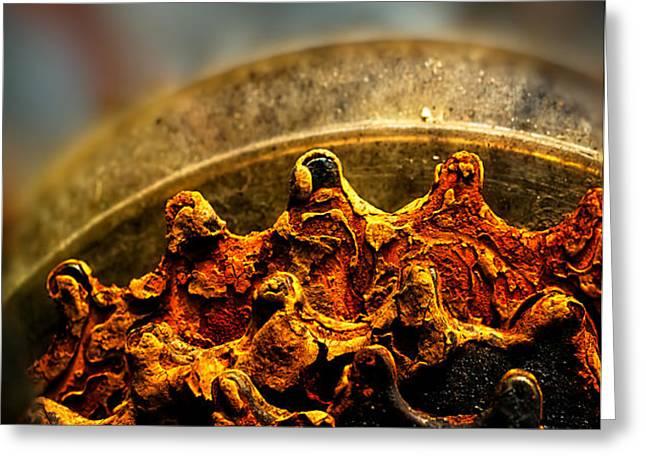 Muddy Rusty Sprockets Greeting Card by Bob Orsillo