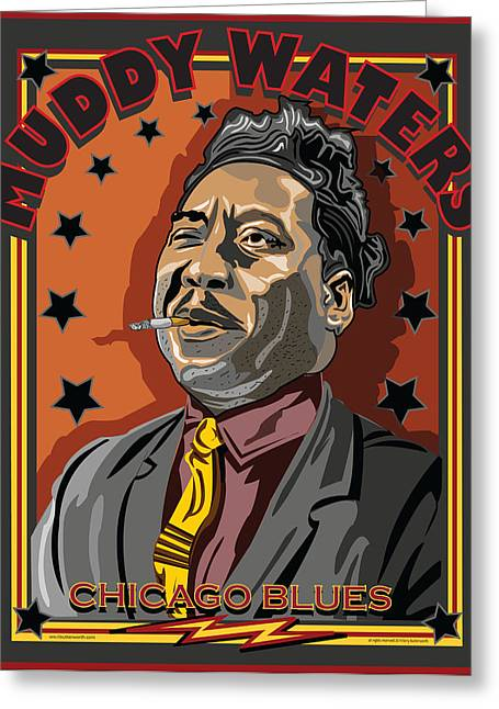Muddy Waters Greeting Cards - Muddy Waters Chicago Blues Greeting Card by Larry Butterworth