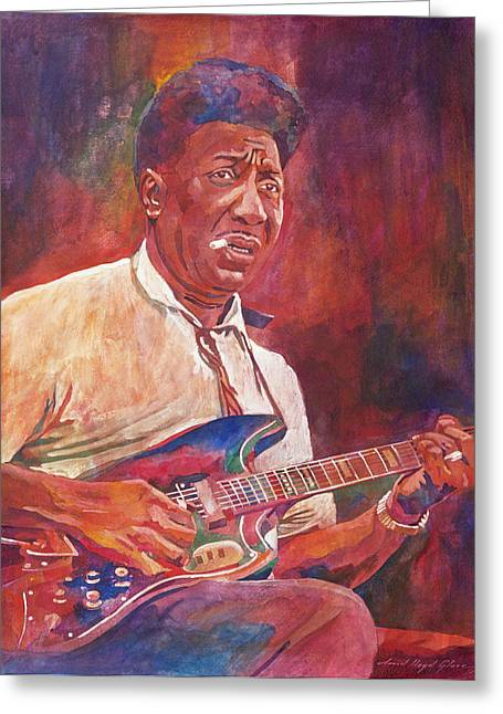 Cultural Icon Greeting Cards - Muddy Waters Greeting Card by David Lloyd Glover